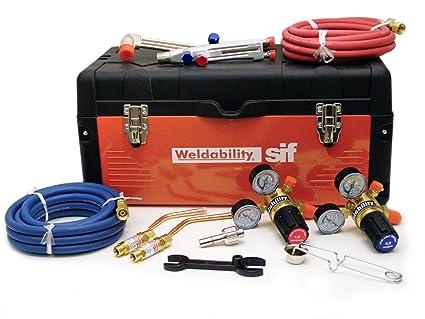 Weldability PKGCASEAWCHD - Juego de herramientas para taller, Oxy/Acet, soldadura y corte: Amazon.es: Industria, empresas y ciencia