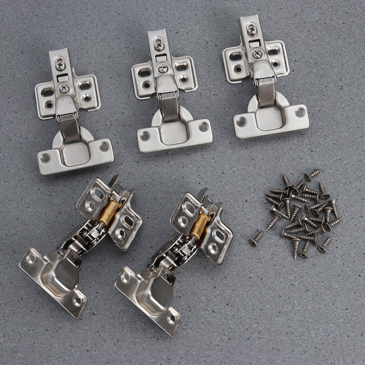 OUNONA 4Pcs 1,2mm Gesicht Rahmen Montage Möbel Scharniere ...