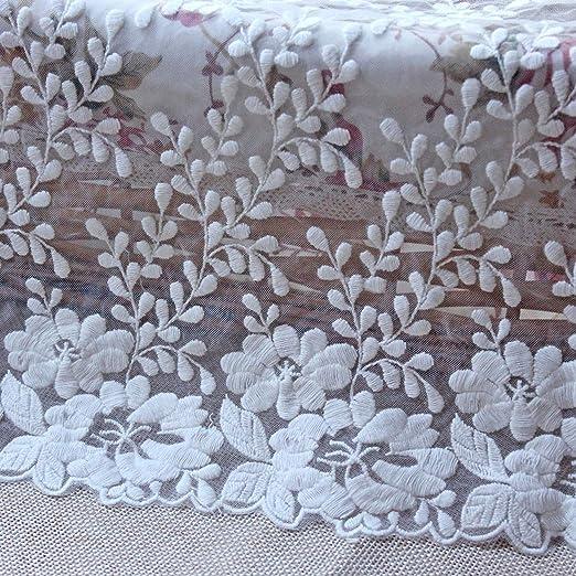 Cinta de algodón bordada de 35 cm de ancho, para costura, encaje ...