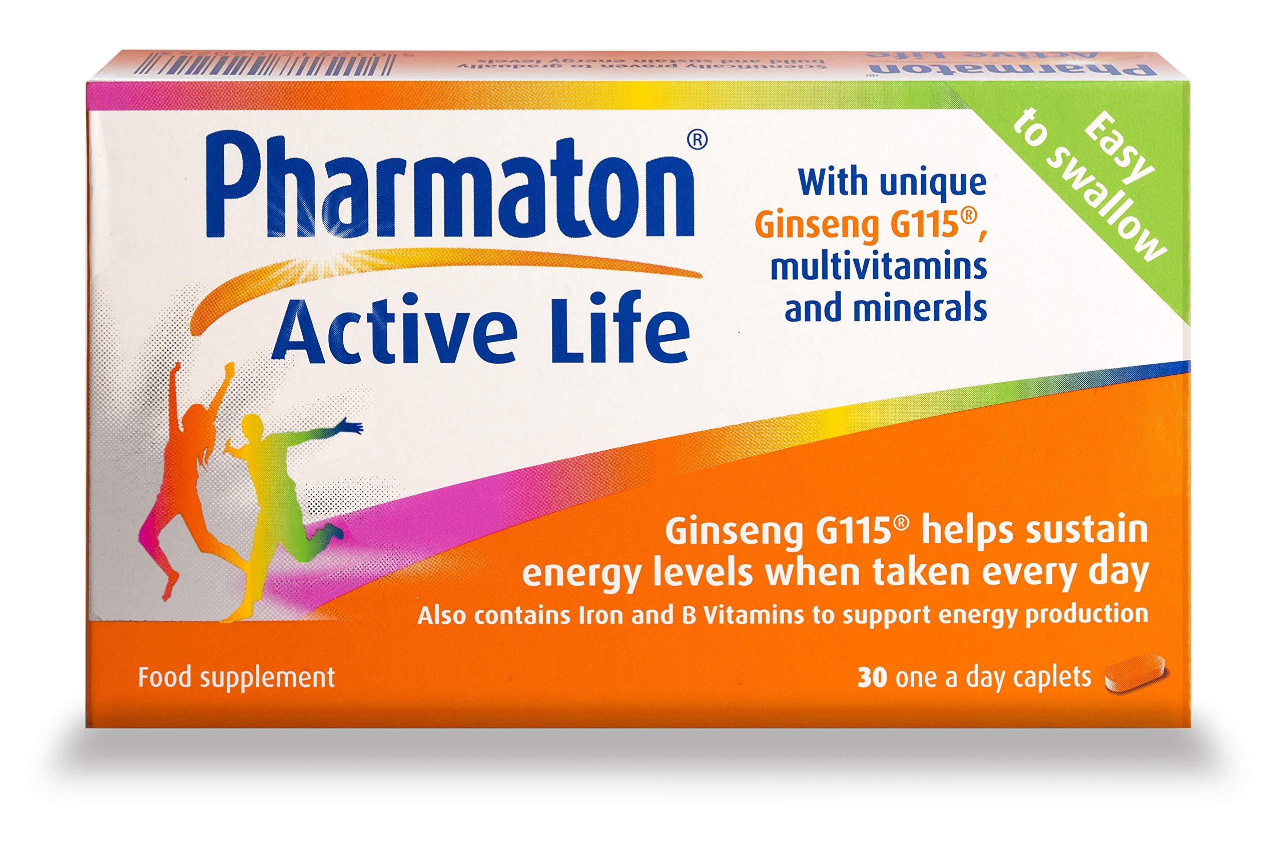 Pharmaton Active Life, Pack of 30 Caplets