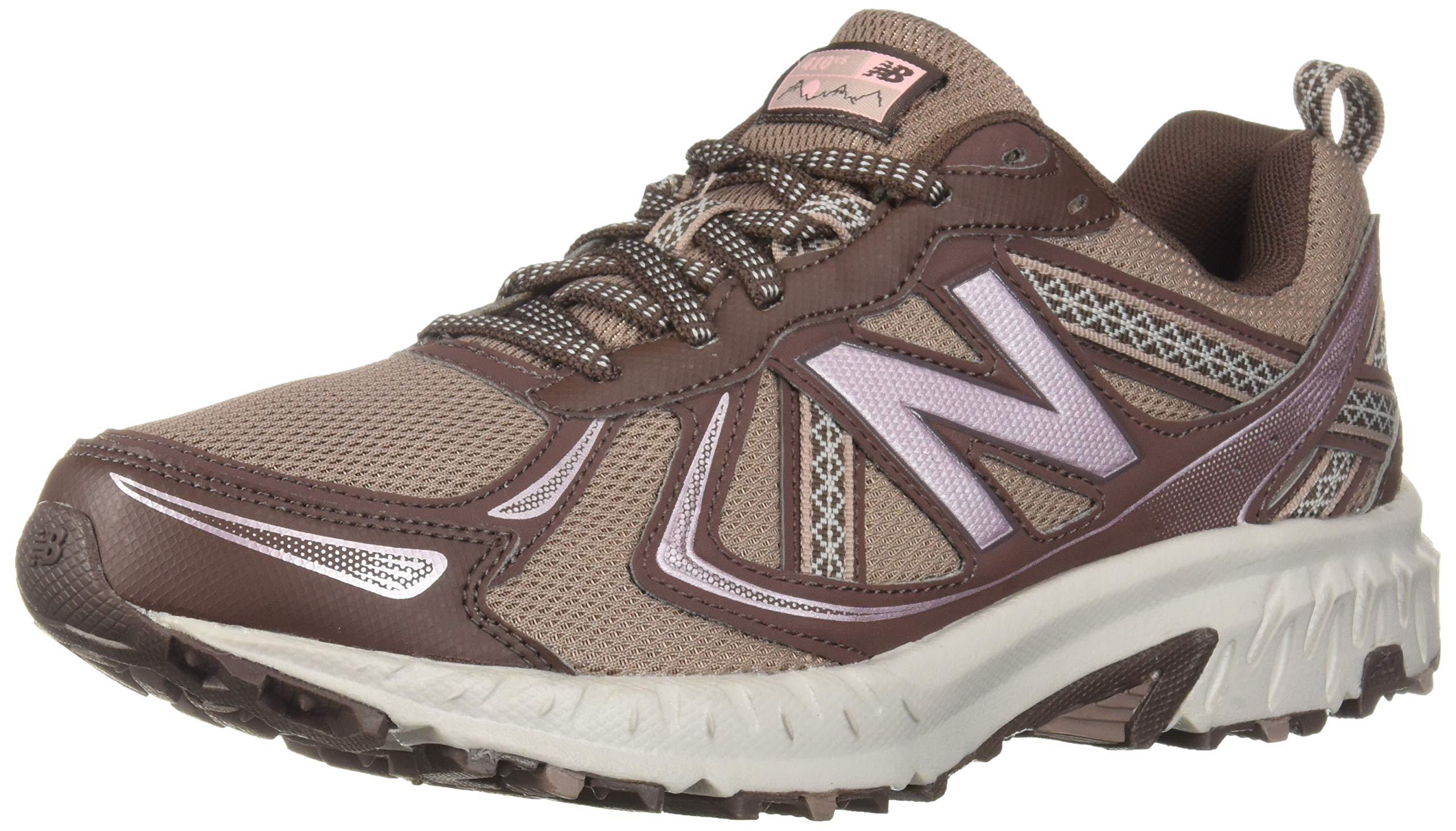 New Balance Women's 410v5 Cushioning Trail Running Shoe, Latte/Macchiatto/Himalayan Pink, 5 B US