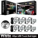 Partsam LED Truck Bed Light Strips 8pods 6-5050-smd White LED Rear Work Box Lighting Kit Waterproof LED Bed Light for Truck Pickup Cargo Trailer RVs