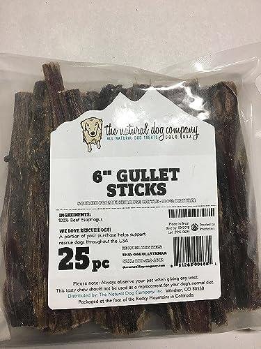 All Natural Dog Treats 6 Gullet Sticks – Bag of 25