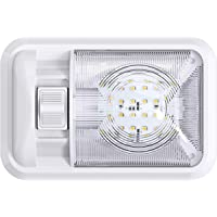 Leisure LED 12V RV Ceiling Dome Light RV Interior Lighting for Trailer Camper with Switch, Single Dome 300LM (Natural…