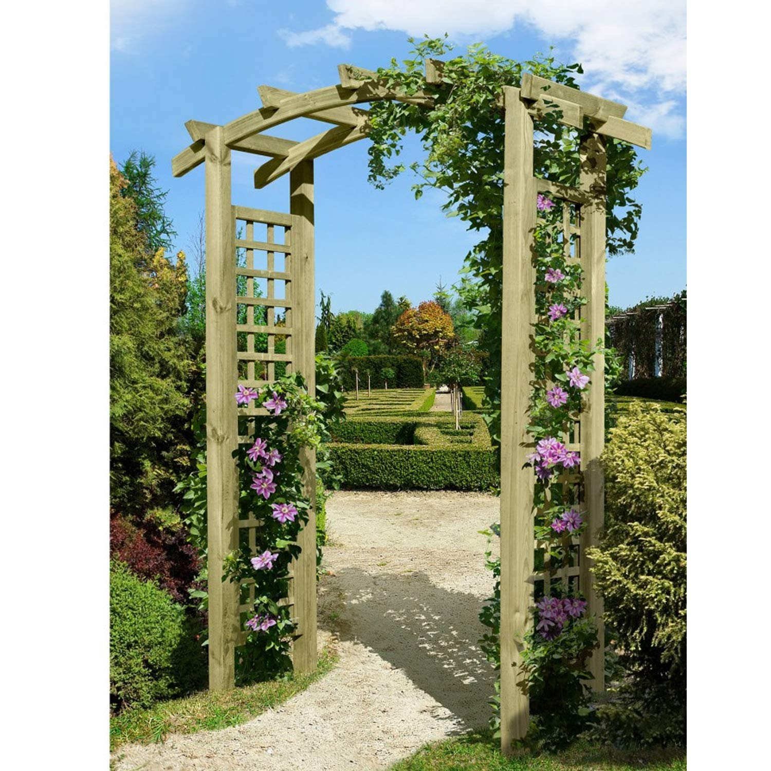eingangspergola 160x62x220 cm pergola aus holz mit rankelementen von gartenpirat kaufen. Black Bedroom Furniture Sets. Home Design Ideas