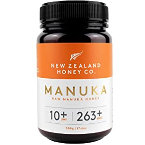 New Zealand Honey Co. Raw Manuka Honey UMF 10+ | MGO 263+, 17.6oz / 500g