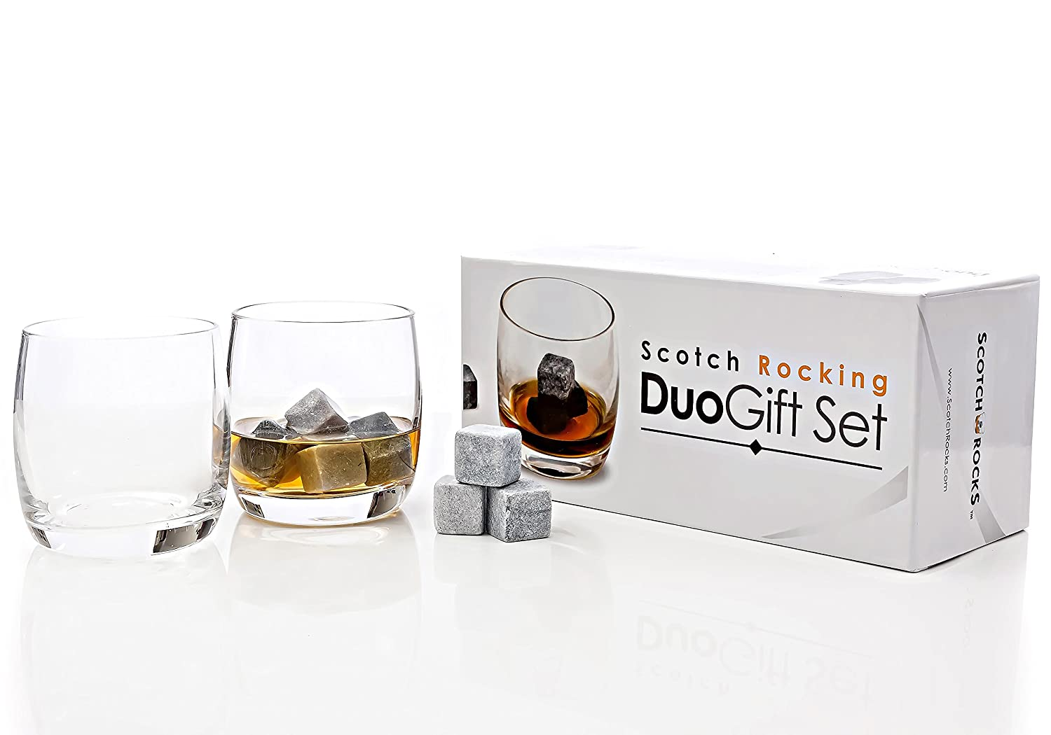 Amazon.com: 2 Whiskey Glasses and 8 Whiskey Rocks Gifts Set. The ...
