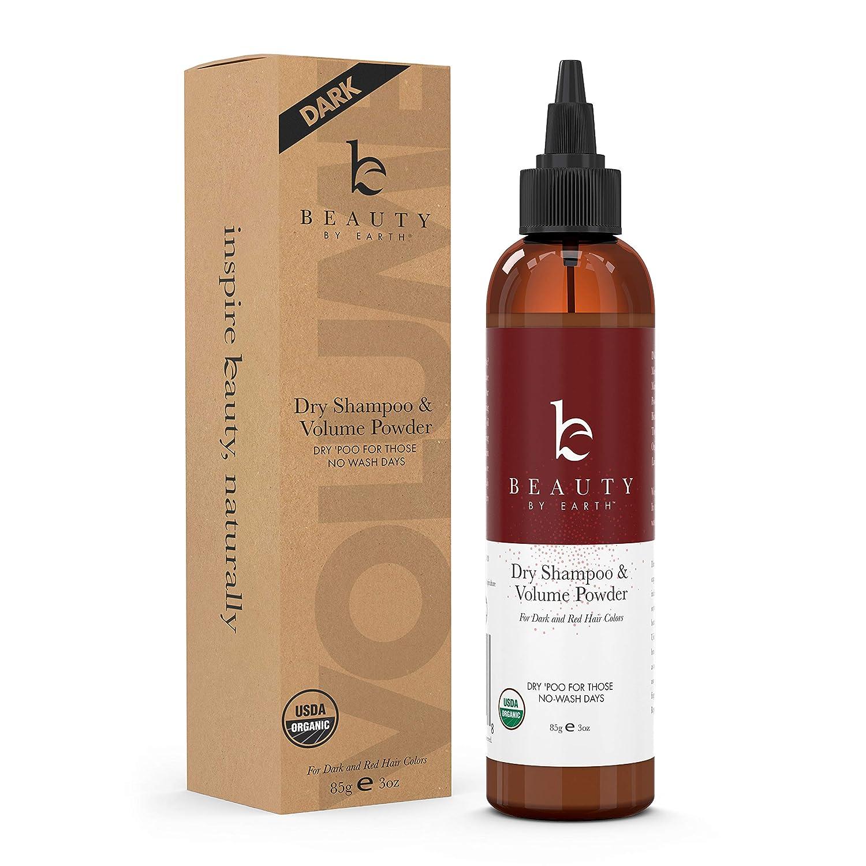 Organic Dry Shampoo Powder - Hair Volume, Volumizing Powder, Natural Dry Shampoo Volume Powder, Best Dry Shampoo, Perfect Hair Powder for Travel (Dark, 2.5 oz)