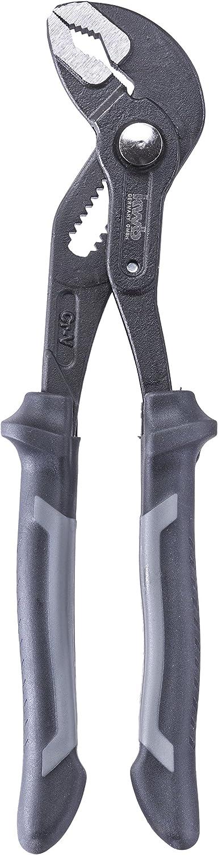 nach DIN ISO 8976 Klemmschutz Schnellverstellfunktion kwb Wasserpumpen-Zange // Rohr-Zange 240 mm 387610 CV-Stahl gezahnte Grifffl/äche