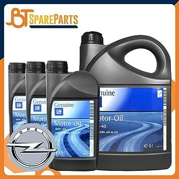 Aceite Motor GM Genuine 10 W-40 10 W40 General Motors 8 L para motores GM Opel, semisintetico: Amazon.es: Coche y moto