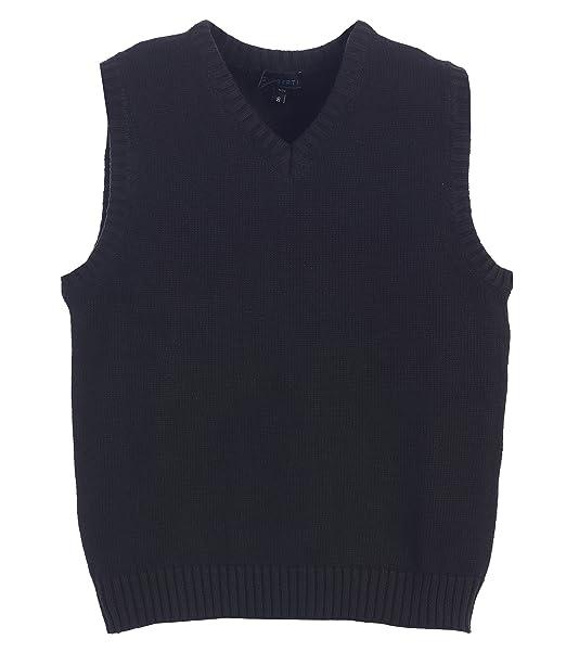 2df10830f048f Amazon.com  Gioberti Boy s V-Neck Knitted Pullover Sweater Vest ...