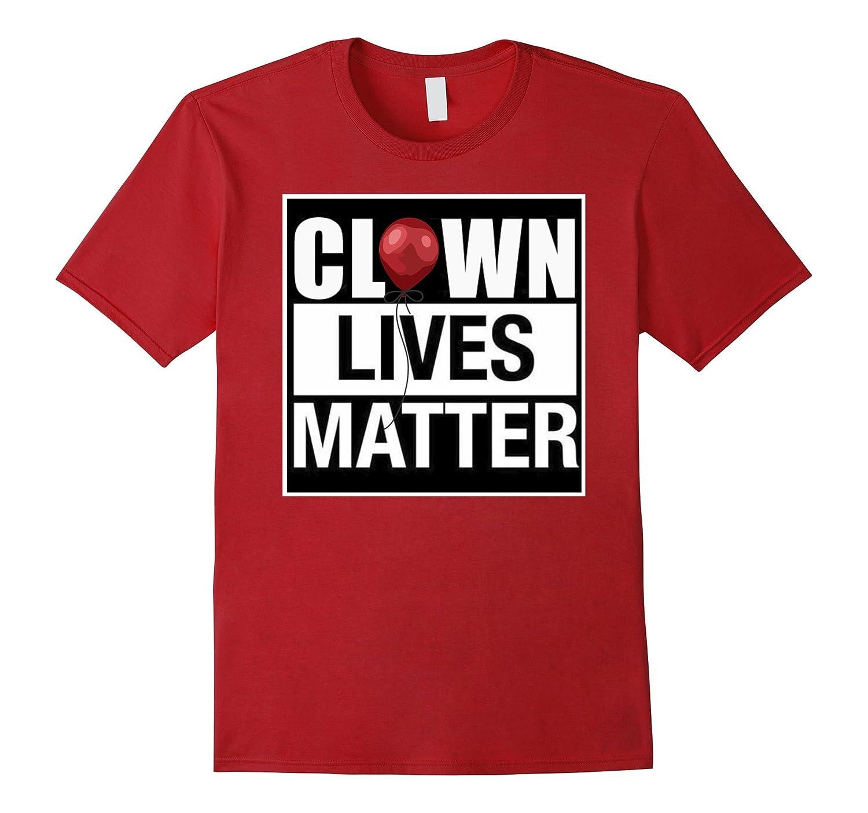 Creepy Clown Lives Matter Red Balloon Halloween Tshirt-FL