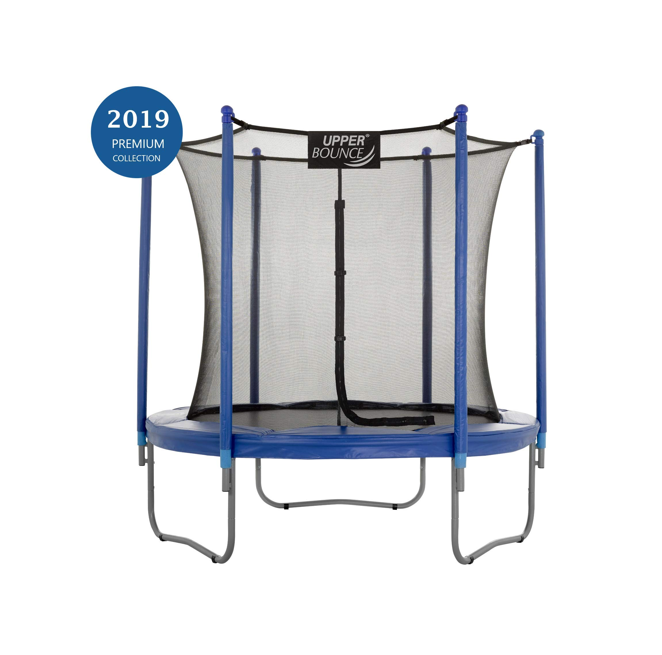 Upper Bounce 7.5 FT. Trampoline & Enclosure Set equipped with the New ''EASY ASSEMBLE FEATURE'' by Upper Bounce