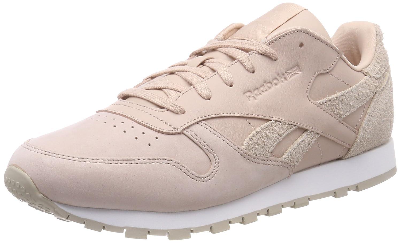 Reebok Cl LTHR, Chaussures de Gymnastique EU|Multicolore Femme 37.5 EU|Multicolore Gymnastique (Prm/Bare Beige/Parchment/White 000) 955005