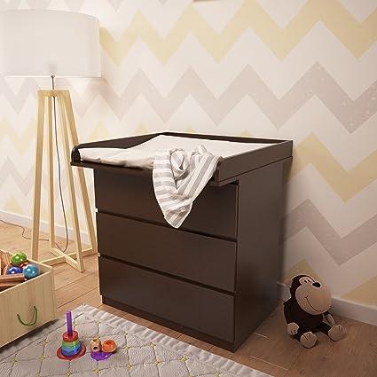 Cassettiera Ikea Con Fasciatoio.Polini Bambini Fasciatoio Per Como Malm Ikea Wenge 1353 4 Amazon