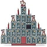Piramide in legno da riempire, decorazione natalizia e calendario dell'Avvento in legno