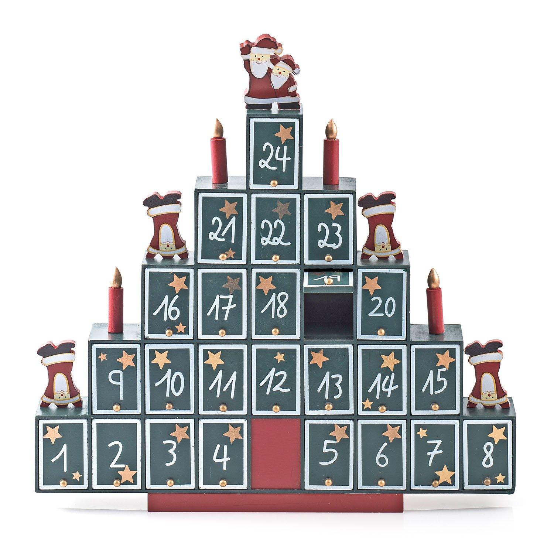 Piramide in Legno da riempire, Decorazione Natalizia e Calendario dell'Avvento in Legno Pajoma 80955.0