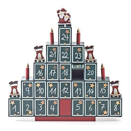 Adventskalender mit Pyramide Weihnachtskalender aus Holz
