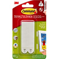 Command  Large Picture Hanging Strips, White