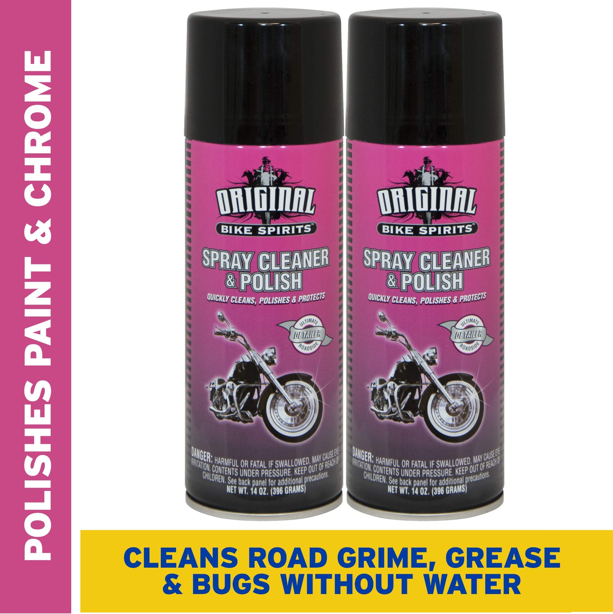Original Bike Spirits Cleaner and Polish 16 Ounce (Pack of 2)