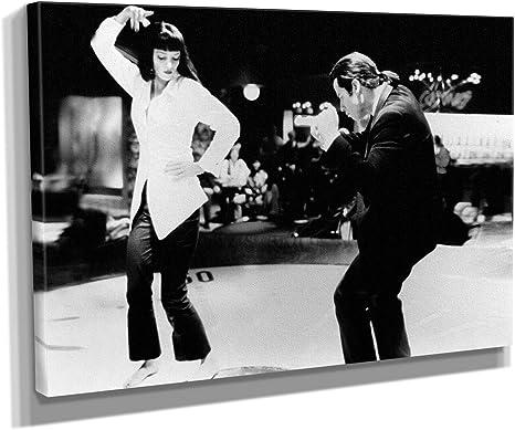 Canvas Wall Art Framed Print Various Sizes PULP FICTION Dance Twist Contest