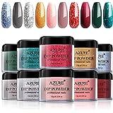 Dipping Nail Powder Set - 10 Colors Dip Powders Nails Set for Christmas No Nail Lamp Needed for French Nail Manicure Nail Art