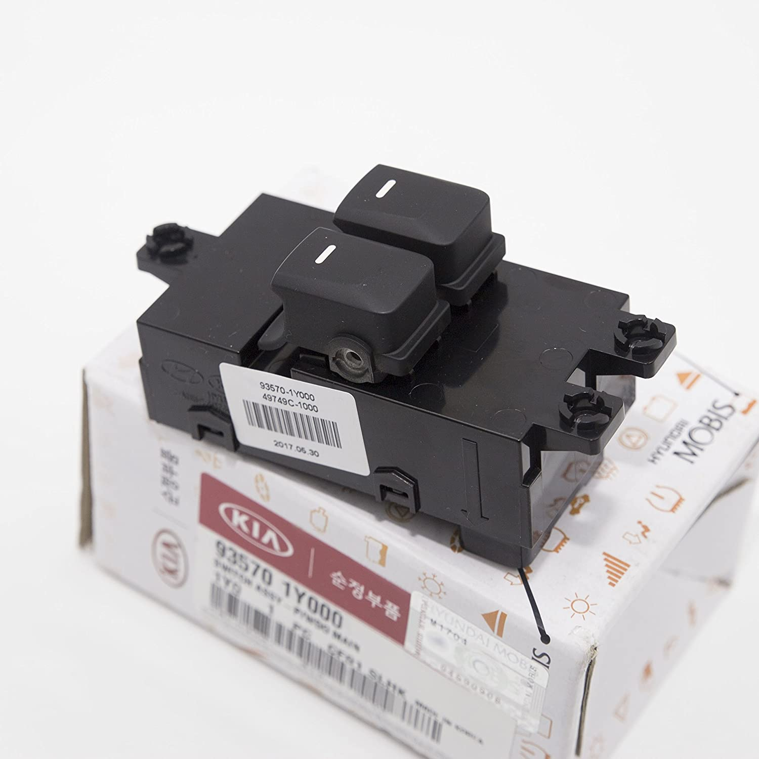 Power Window Switch Main Front Driver LH Side 935701Y000 for Kia Picanto Morning 2011 2016: Amazon.es: Coche y moto