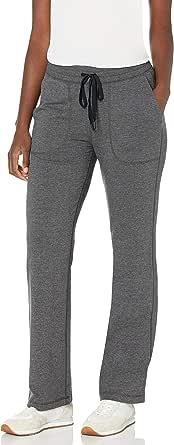Amazon Essentials Women's Studio Terry Full Length Classic Fit Straight Leg Pant
