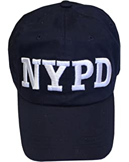 7eef06c7e78fb NYC FACTORY NYPD Baseball Hat New York Police Department Navy   White One  Size