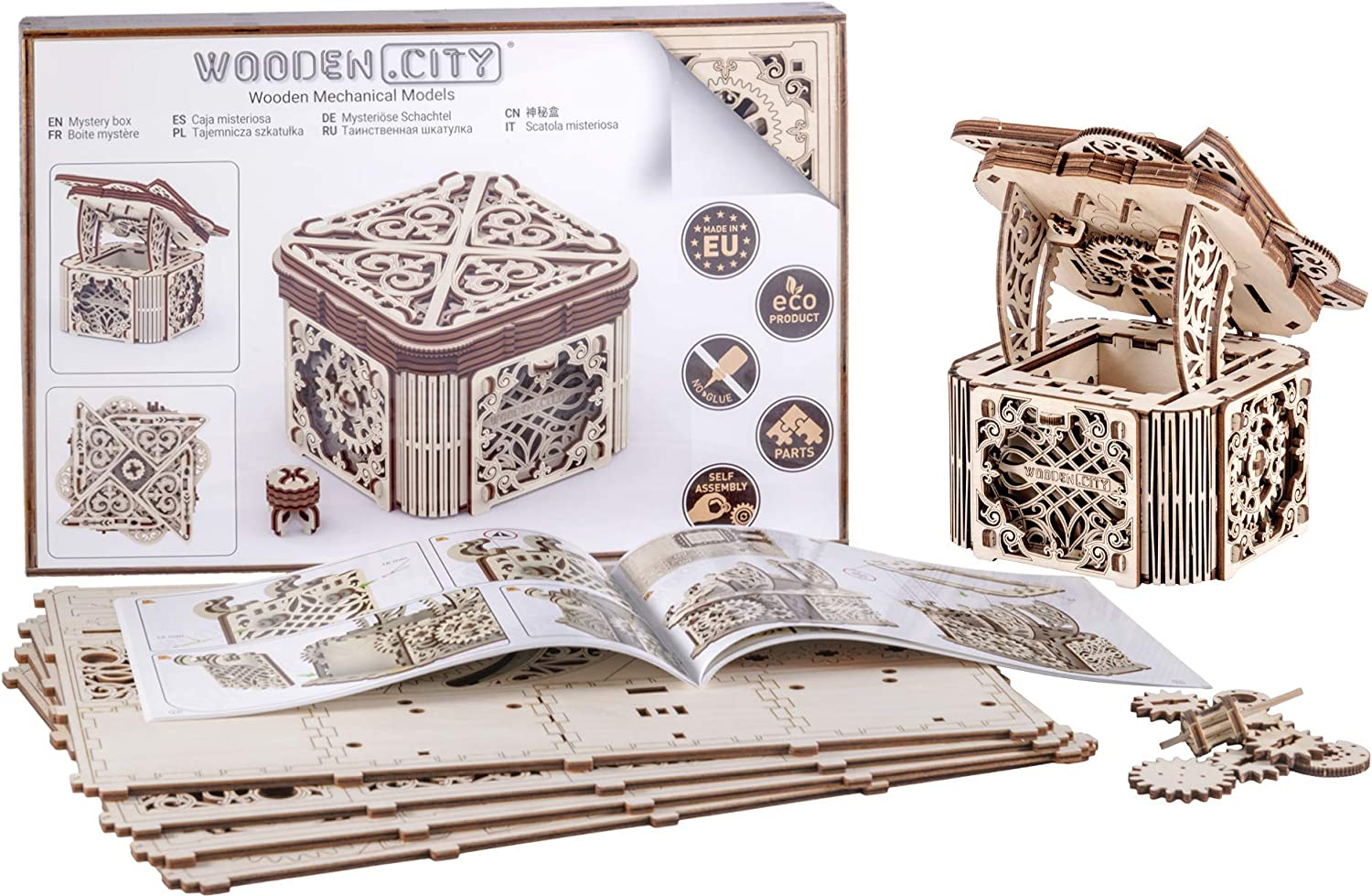 WOODEN.CITY Modelos mecánicos Kits Mystery Box Puzzle de Madera 3D ...
