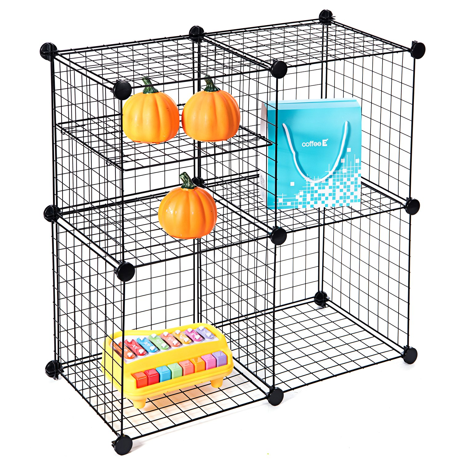 MaidMAX Wire Storage Cubes, Free Standing Modular Shelving Units ...