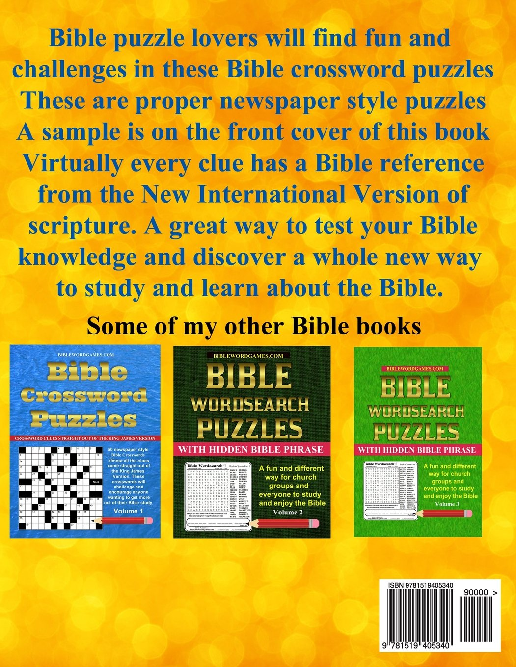 picture regarding Printable Bible Crossword Puzzles With Scripture References called Bible Crossword Puzzles Vol.2: 50 Newspaper layout Bible