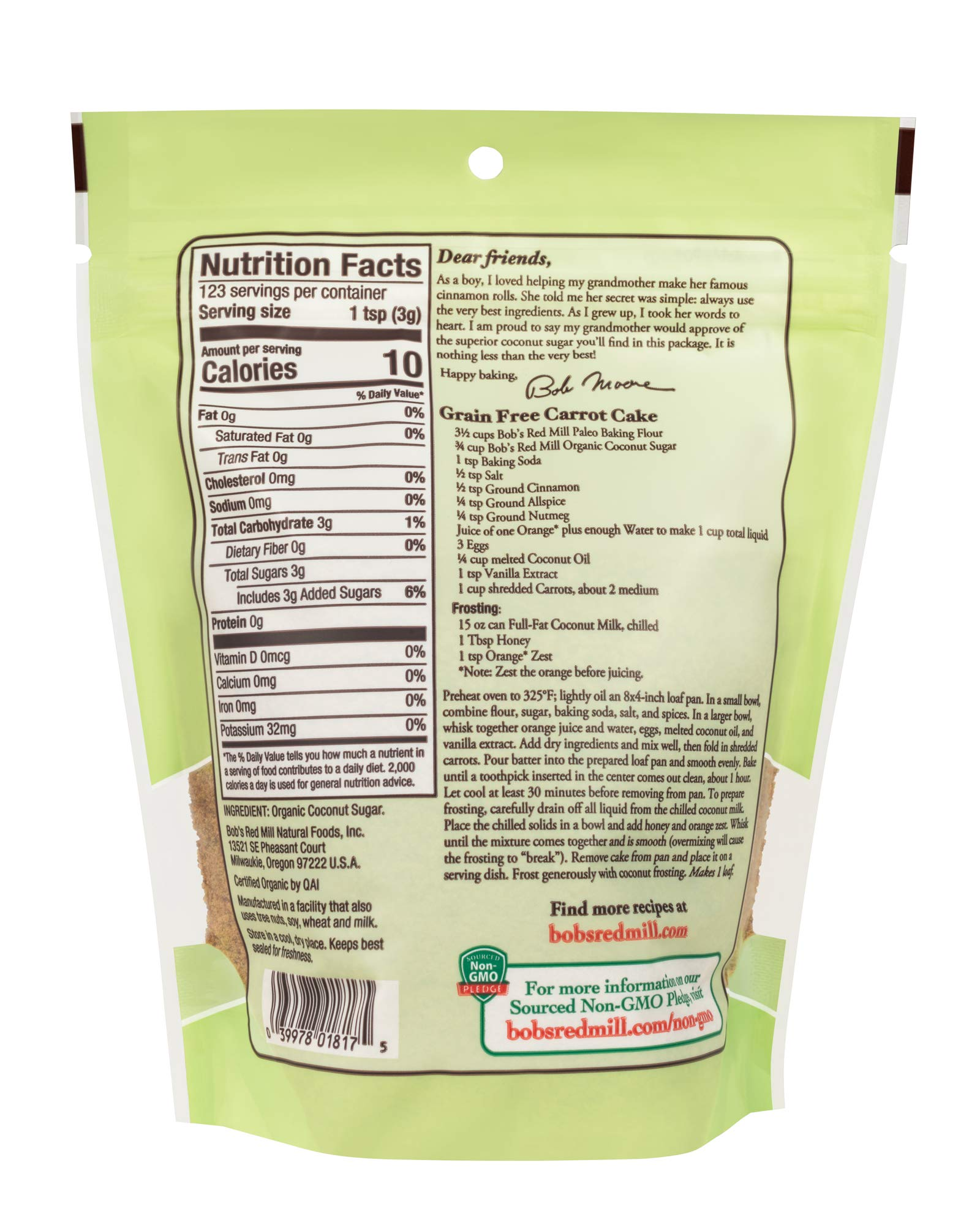 Bob's Red Mill Resealable Organic Coconut Sugar, 13 Oz (6 Pack) by Bob's Red Mill (Image #4)