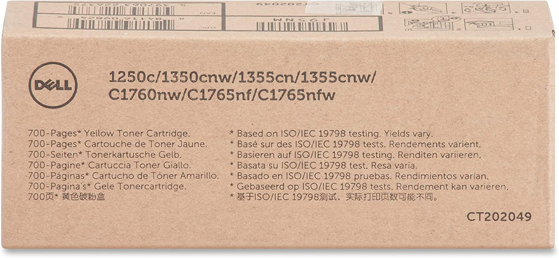 Dell Consumer J95NM Yllw Toner Cartrdg 700pg