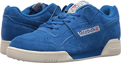 df43f03757e Reebok Mens Workout Plus Vintage Awesome Blue Chalk 8 D - Medium