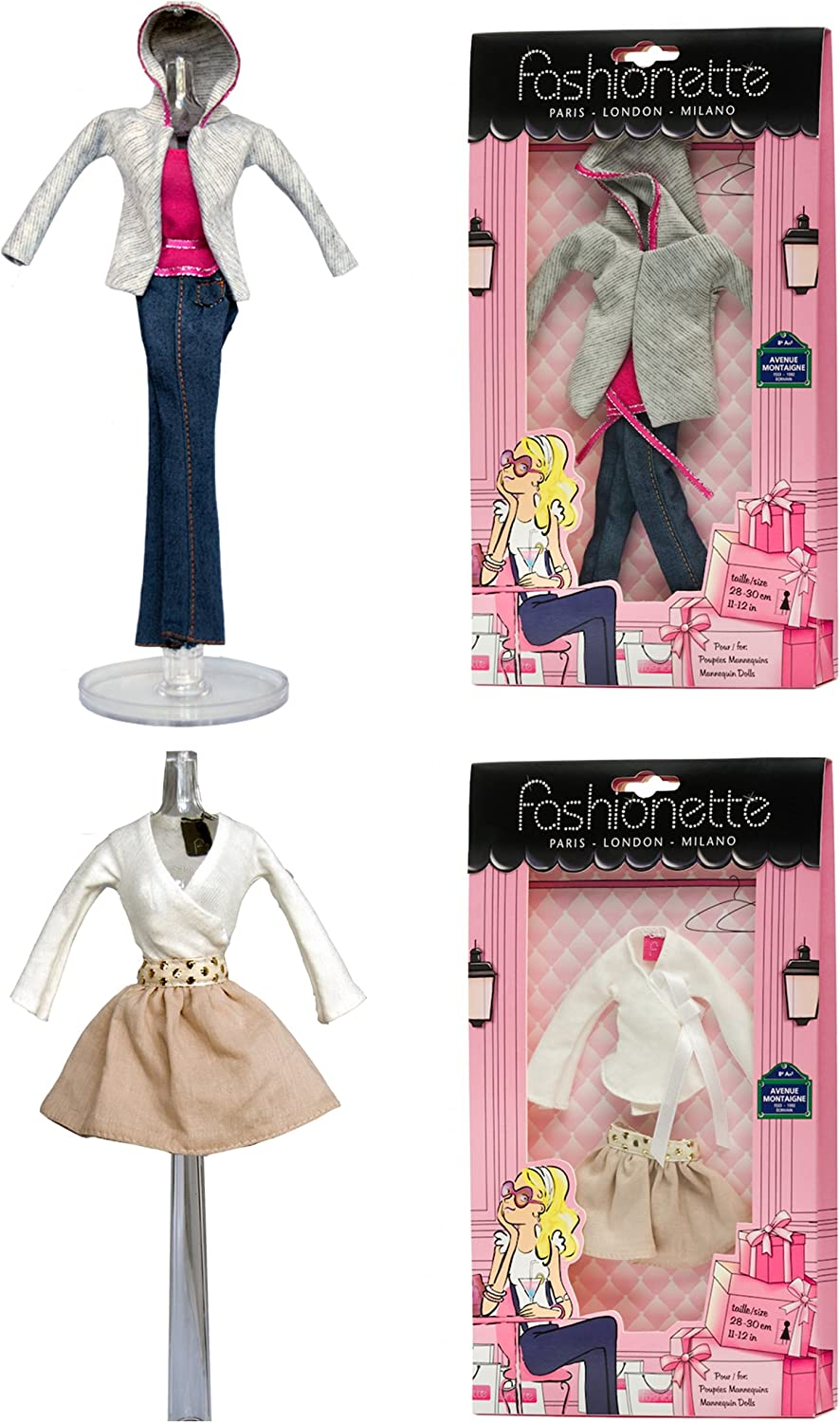 Amazon Com Fashionette Paris 2 Fashion Outfits City Style Designer Vacation Style Designer To Fit Barbie By Toys Games