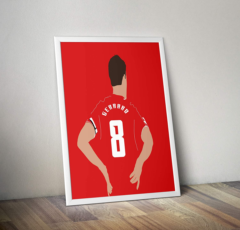 cadre non inclus Steven Gerrard Inspir/é Poster Print cadeaux Alternative Sport//Football Affiches en diff/érentes tailles