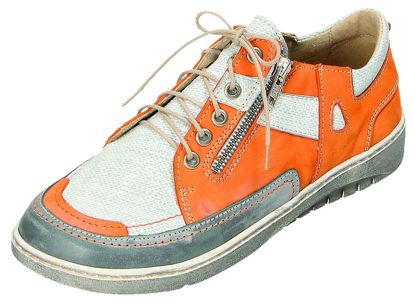 MICCOS Zapatos de Cordones Para Mujer Naranja Orange/Komb. 37 EU|orange/komb.