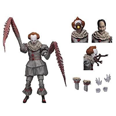"NECA - IT - 7"" Scale Action Figure - Ultimate Pennywise The Dancing Clown (2020) : Toys & Games"