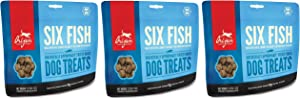 Orijen Six-Fish Freeze-dried Treats, 3.25 Ounces Per Pack (3 Pack)