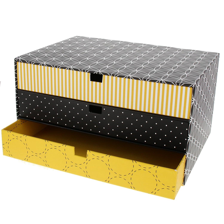 Goldbuch cassetti Box OFF Line di taglia piccola, 4 cassetti 4 Schubfä cher nero 4cassetti 4 Schubfächer nero 85602