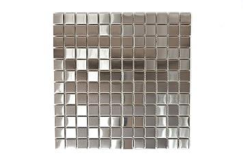 Fliesen Mosaik Küche | Fliesen Mosaik Mosaikfliese Edelstahl Silber Gestrichen Kuche Bad Wc