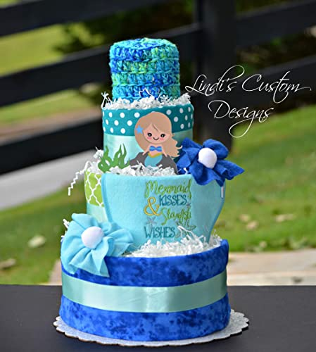 Amazoncom Girl Mermaid Diaper Cake Gift Centerpiece Handmade