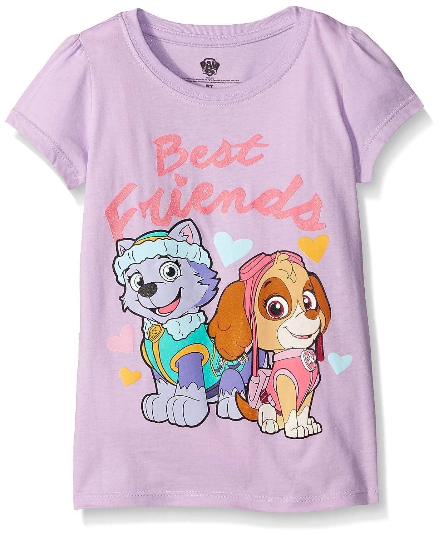 3b697882d8a19 Amazon.com: Nickelodeon Little Girls' Paw Patrol Short Sleeve T-Shirt Shirt:  Clothing