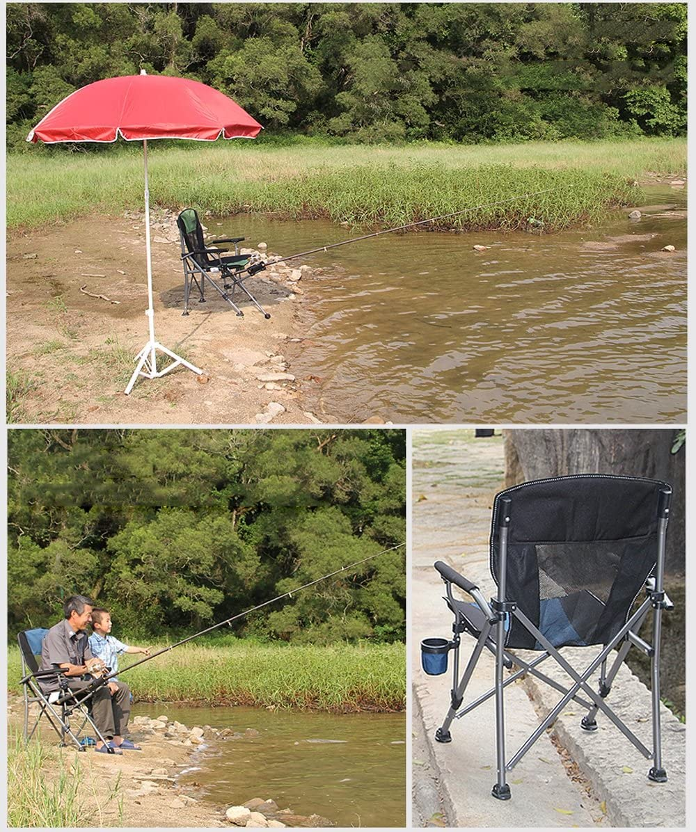 LICCC Outdoor Folding Chair Portable Beach Chair Director Chair Fishing Chair Lounge Chair (Color : 4#) 3#