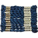 80m DMC Perle 8 Cotton 10g Ball #311 MEDIUM NAVY BLUE