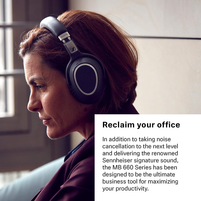 ee4857b83bf Amazon.com: Sennheiser MB 660 UC (507092) - Dual-Connectivity, Wireless,  Bluetooth, Foldable, Adaptive ANC Over-Ear Headset | For Desk/Mobile Phone  ...