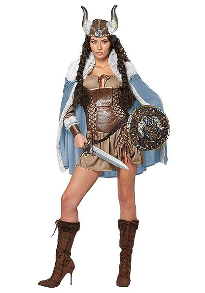 Generique - Disfraz Mujer Vikingo Adulto S (38/40): Amazon ...