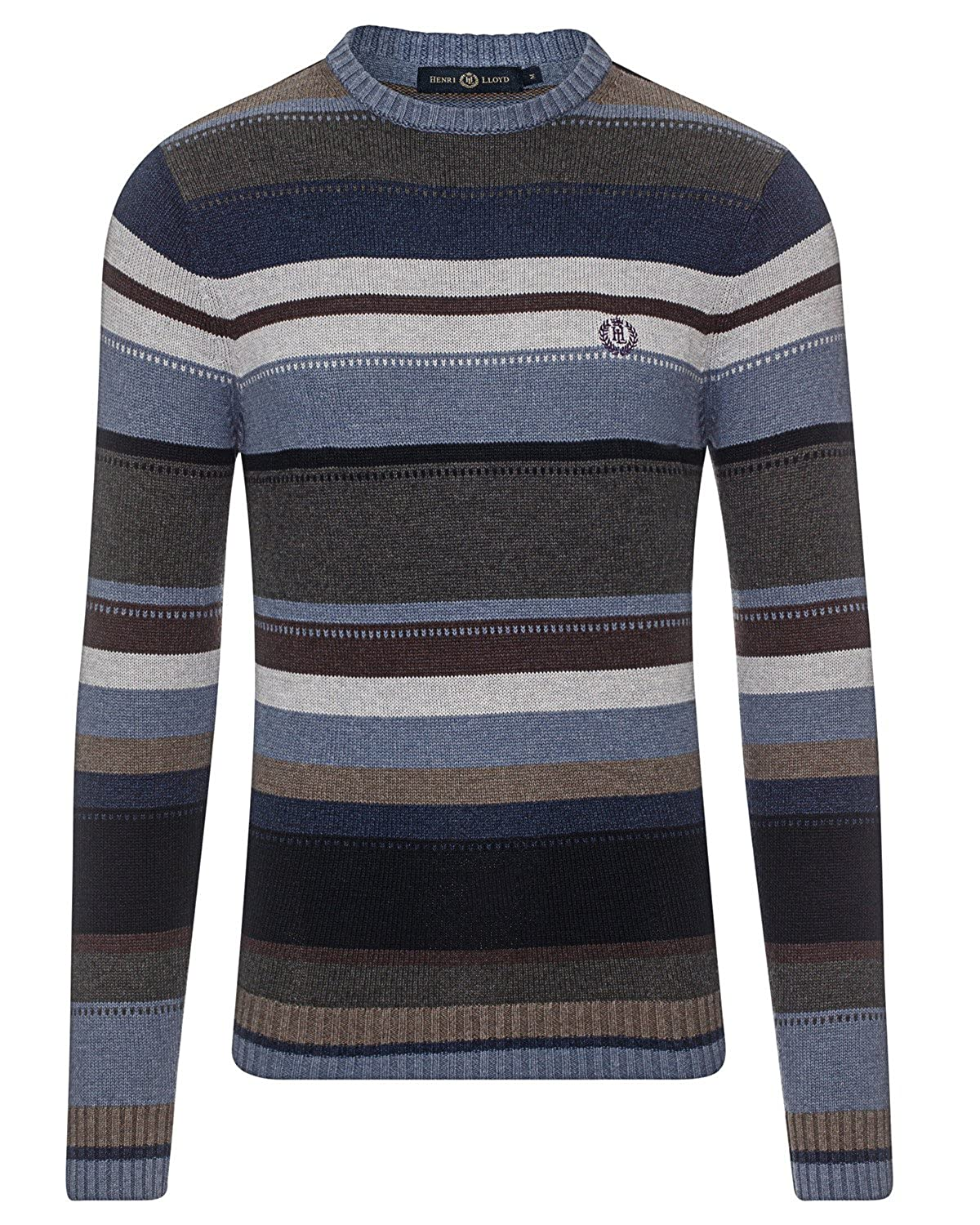 Mens Henri Lloyd Norwell Navy Crew Neck Jumper