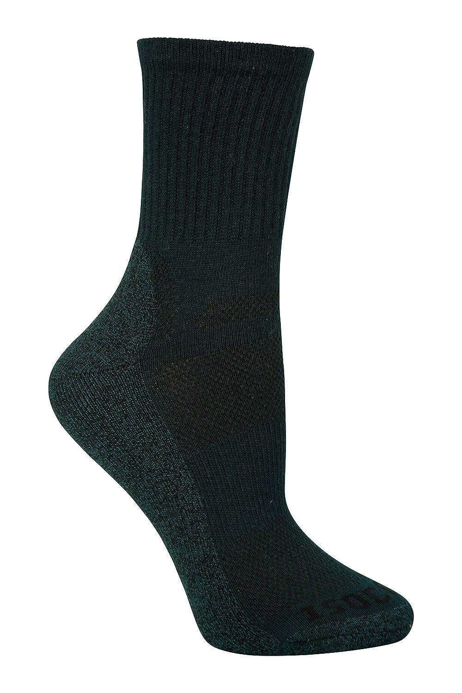 Mountain Warehouse IsoCool Women's Trekker Socks - Lightweight Ladies Walking Socks, Fast Dry Summer Socks, Breathable Hiking Socks, Antibacterial -for Trekking, Running Running Black 4-7
